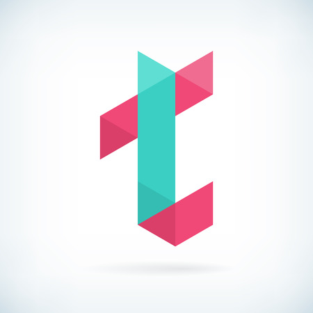 t background: Modern letter T icon flat design element template. isolated. Illustration