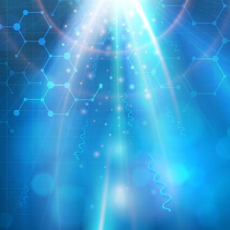 biotecnologia: Biotecnología médica molécula de la química del vector Resumen de antecedentes. capas.