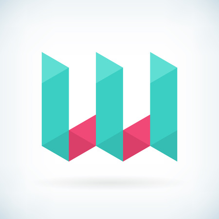 Modern letter W icon flat design element template. isolated.