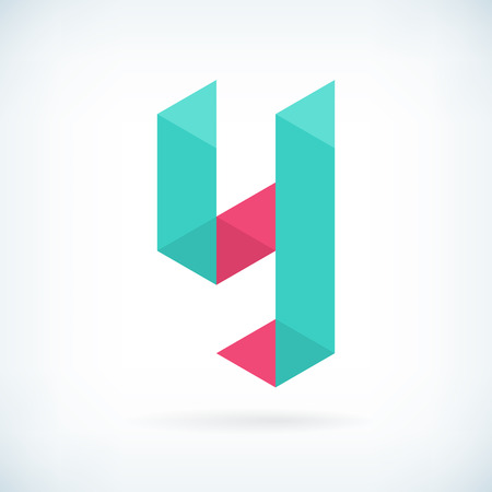 Modern letter Y icon flat design element template. isolated. 向量圖像
