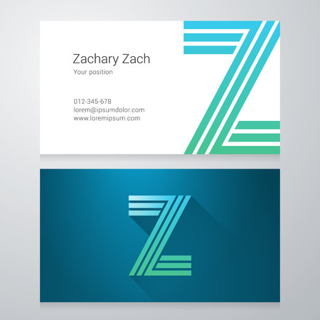 Design icon letter Z Business card template. Layered, editable.