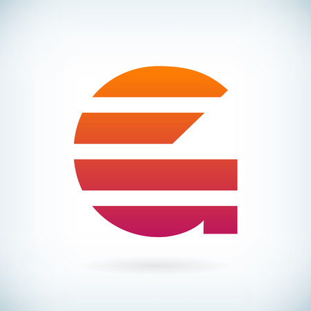 stripes letter G icon design element template. isolated.