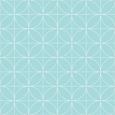 vector vintage retro naadloze cirkel patroon achtergrond