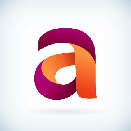 papier lettre: Lettre torsad�e moderne Un �l�ment de mod�le de conception de l'ic�ne Illustration