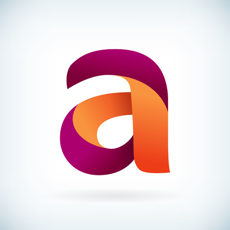 Modern twisted letter A icon design element template Illustration