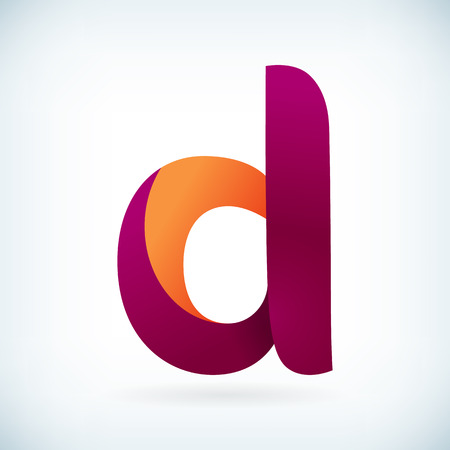 Modern twisted letter D icon design element template 向量圖像