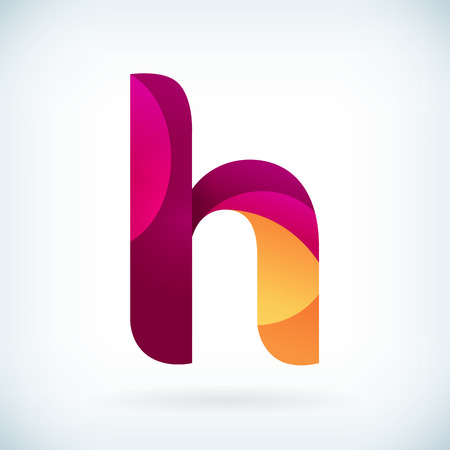 letter h: Modern twisted letter H icon design element template Illustration