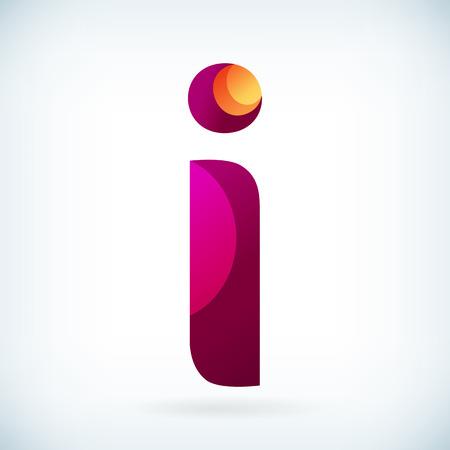 PAPIER A LETTRE: lettre torsadée moderne i icône élément de conception modèle