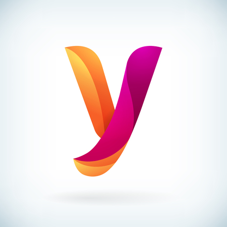 Modern twisted letter y icon design element template Vectores