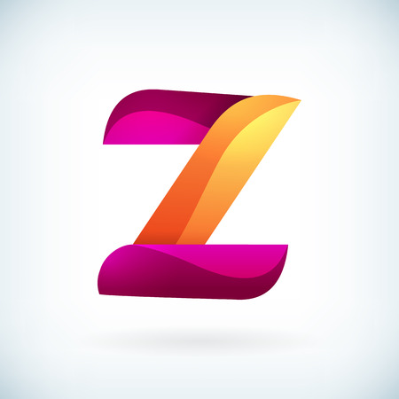 letter a z: Modern twisted letter z icon design element template Illustration
