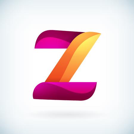 Modern twisted letter z icon design element template Illustration