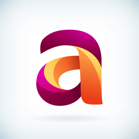 Modern twisted letter a icon design element template