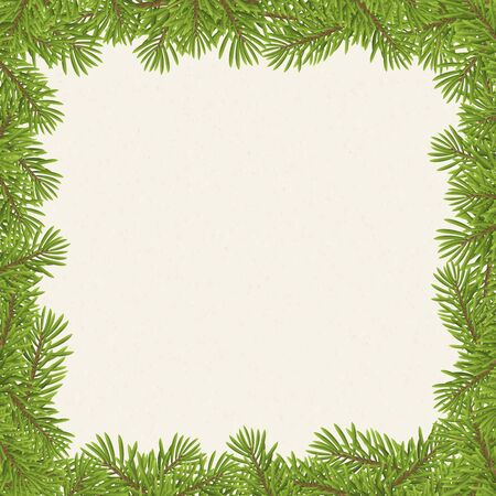 frameworks: Christmas tree frame isolated on paper background. vector illustration.