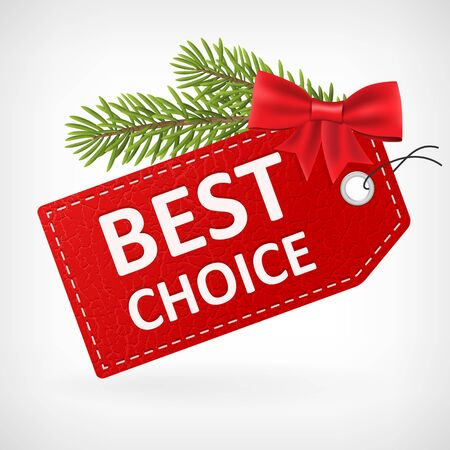 buy: Red leather price christmas vector labels best choice.
