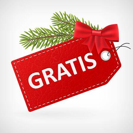 etiqueta: precio de cuero rojo etiquetas de vectores de navidad proporcionado gratuitamente