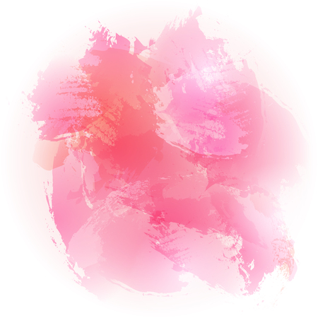 abstract watercolor pink brushed vector background design