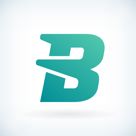 b: Modern letter B blow shape icon design element template Illustration