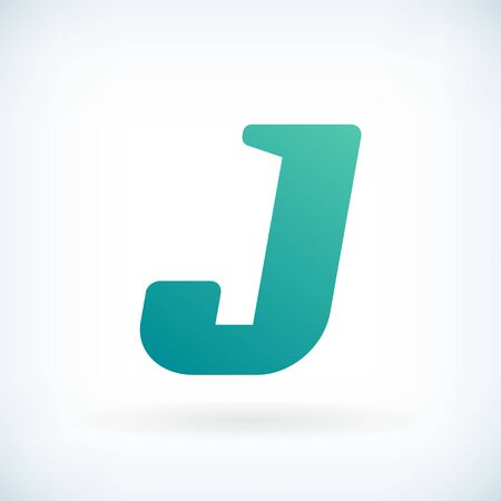 blow: Modern letter J blow shape icon design element template