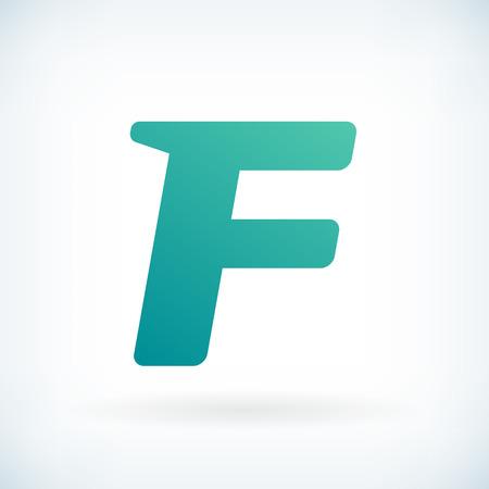 blow: Modern letter F blow shape icon design element template Illustration