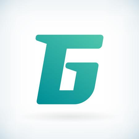 blow: Modern letter G blow shape icon design element template
