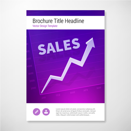 sales book: Positive sales brochure book report design template. layered.