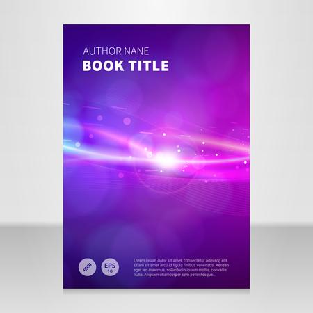 Modern annual report, brochure or book vector design template