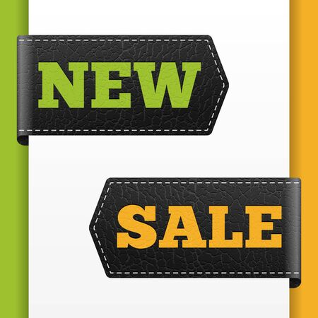 important notice: NEW SALE leather bookmark vector business label. isolated from background.