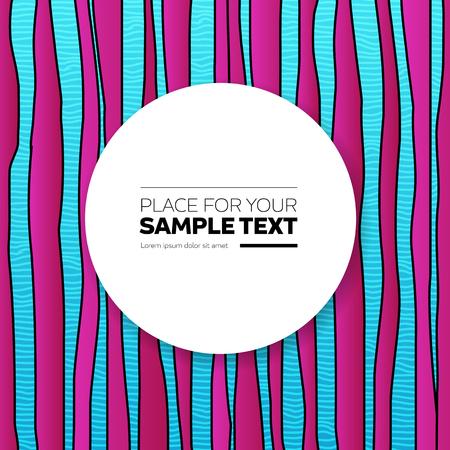 blue violet: Kids stroke stripes zebra vector background with place for text. Blue and violet. Illustration