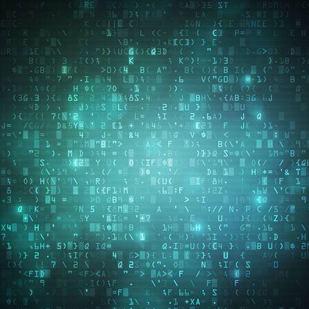 computer data: Technology computer digital data code background illustration.