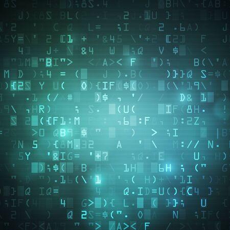 computer data: Internet wireless computer digital data code background illustration. Illustration