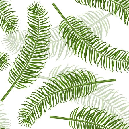 tileable: Seamless palm leaf pattern. Tropical leaves vector background for print or website. Tileable design.