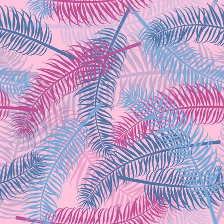 Vintage seamless palm leaf pattern background Illustration