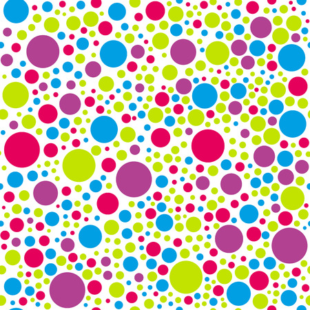 seamless colorful circle background pattern design for website or print 向量圖像