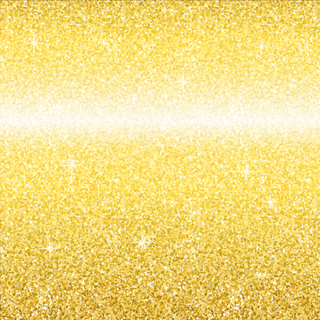 Gold glitter shine backdrop texture. Vector background for website or print.