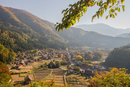 View of Shirakawago in Japan