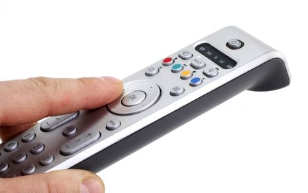 remote control isolated on white photo