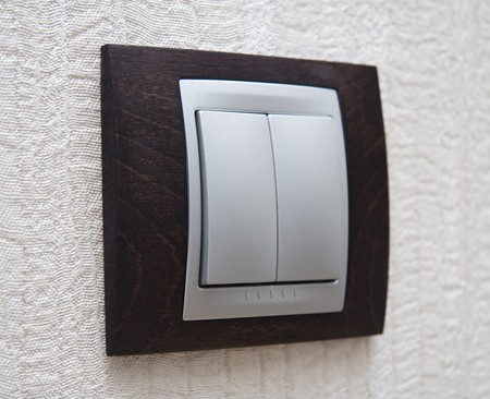 electrical appliance: lighting switch Stock Photo