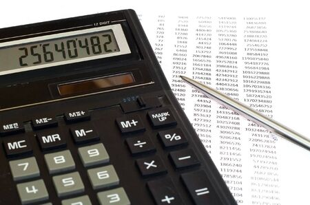black tax calculation and pen photo