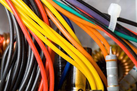 Power Unit. Multicolored computer cable Stock Photo - 4706919