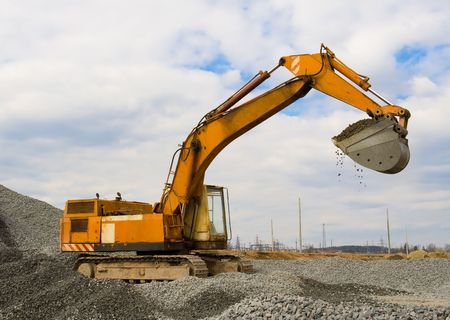 The building machine for performance of ground works photo