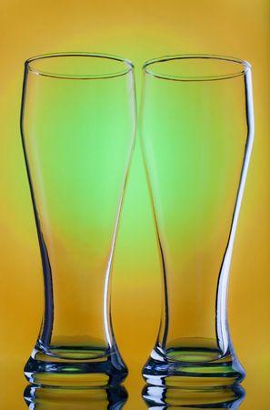 Empty glass on black background Stock Photo - 5945782