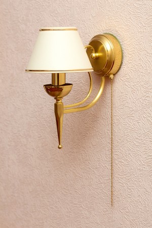 sconce: Classic design of sconce in the interior Stock Photo