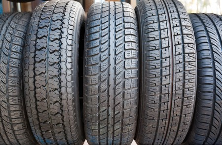 Rubber tires photo
