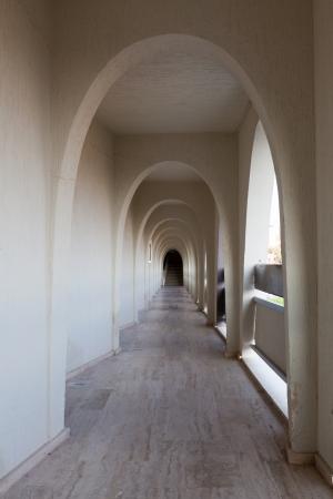 Interior of the corridor of modern hotel in arabian style Stock Photo