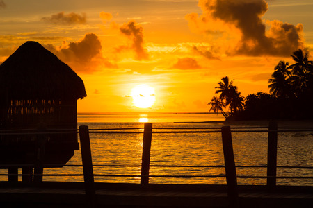 Evening shot in French Polynesia photo