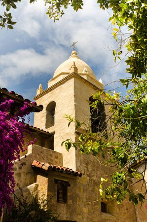 build in: Carmel Mission build in late 18th century in  Spanish Colonial Style on the Pacific coast in California. Stock Photo