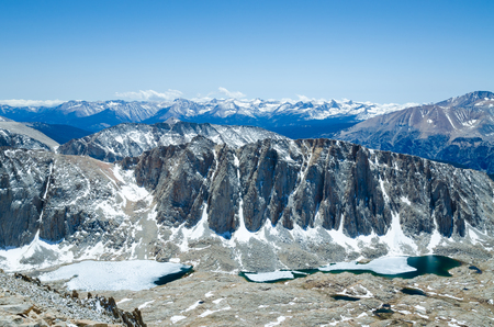 contiguous: Hiking Mount Whitney, highest summit in California and contiguous USA