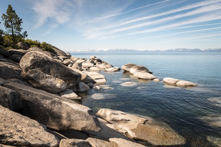 View of beautiful Lake Tahoe Stock Photo
