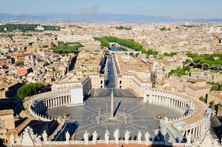 st  peter's square: St. Peters Square in Vatican Rome Italy