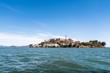 alcatraz: Famous Alcatraz island in San Francisco bay Stock Photo